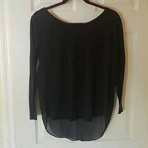 Aerie black long sleeve shirt